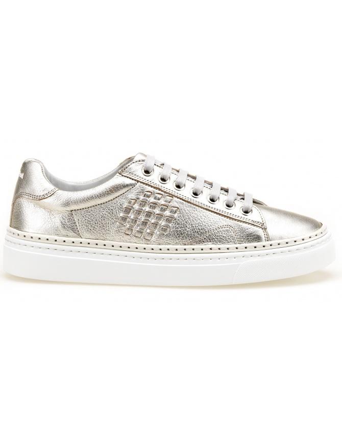 BePositive silver sneakers Anniversary (woman) 8SWOARIA01-LAM-PLATINUM womens shoes online shopping