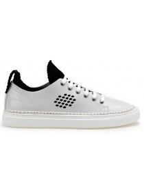 BePositive Sneakers bianche modello Ambassador con calza interna nera 8SARIA08-LEA-WHITE