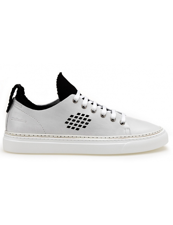 BePositive Sneakers bianche modello Ambassador con calza interna nera 8SARIA08-LEA-WHITE calzature uomo online shopping