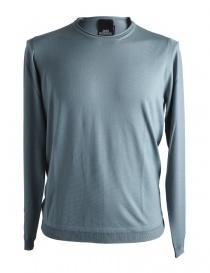 Mens knitwear online: Goes Botanical sage green merino sweater