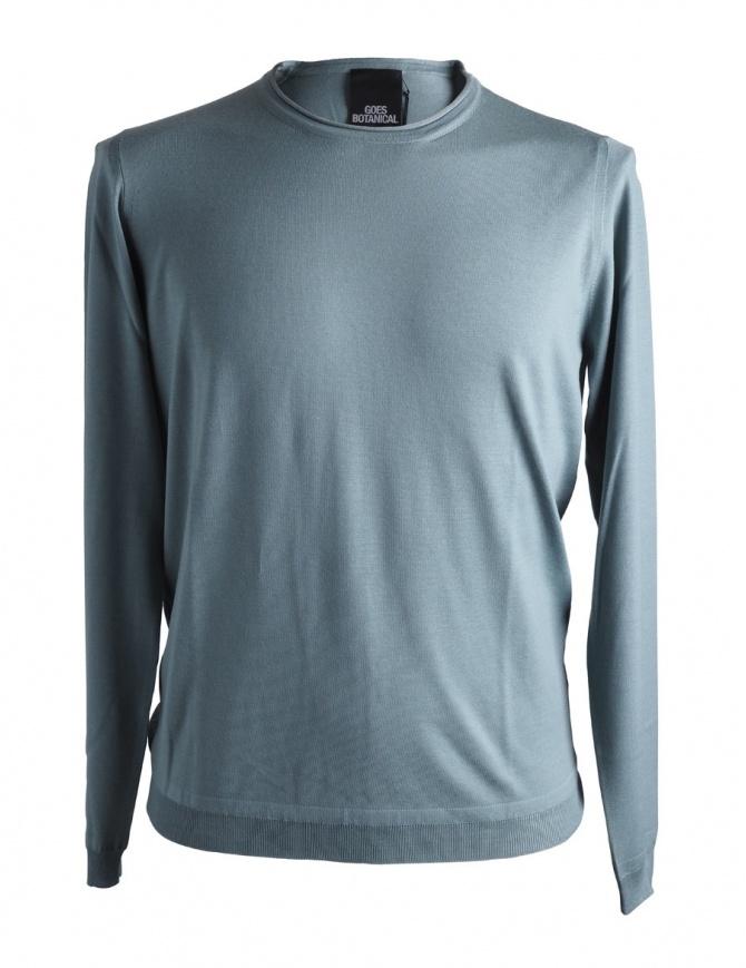 Goes Botanical sage green merino sweater 101 4542 VERDE SALVIA mens knitwear online shopping