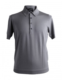 Goes Botanical gray merino wool polo shirt online