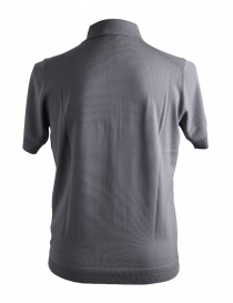 Goes Botanical gray merino wool polo shirt