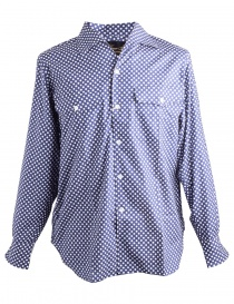Mens shirts online: Blue Dotted Haversack Shirt