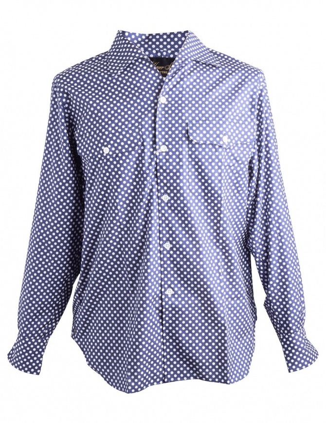 Camicia Blu a Pois Bianchi Haversack 821803/59 SHIRT camicie uomo online shopping
