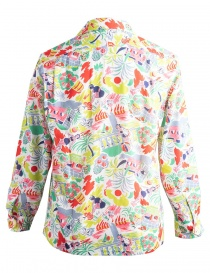Patterned Haversack shirt with beach drawings