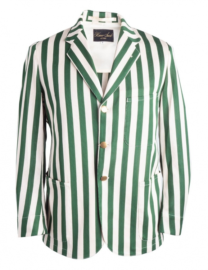 White and green striped Haversack jacket 871806/43 JACKET mens suit jackets online shopping
