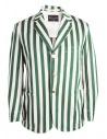 Giacca Haversack a strisce bianche e verdi acquista online 871806/43 JACKET