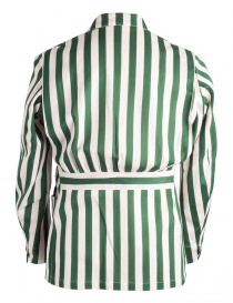 White and green striped Haversack jacket