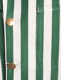 Giacca Haversack a strisce bianche e verdi prezzo