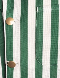 White and green striped Haversack jacket price