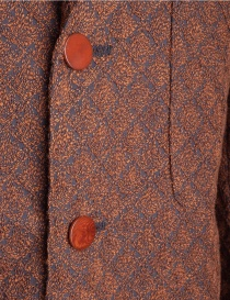 Brown Haversack Jacket with embossed diamond pattern mens suit jackets buy online
