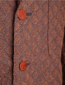 Giacca marrone Haversack con rombi in rilievo giacche uomo acquista online