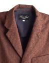 Giacca marrone Haversack con rombi in rilievo 871808A_34A prezzo