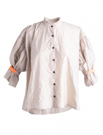 Camicia Beige Kolor con banda arancione online