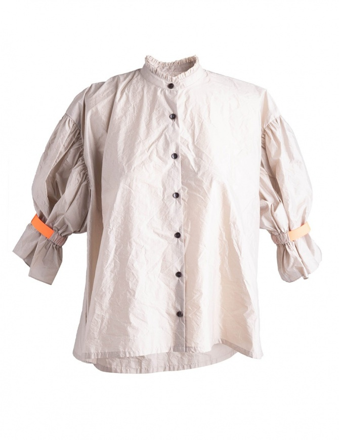 Beige Kolor Shirt with orange band 18SCL_B06134 womens shirts online shopping