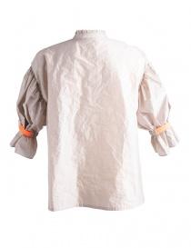 Camicia Beige Kolor con banda arancione