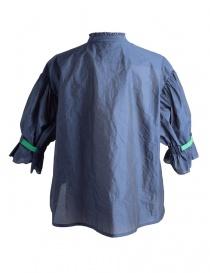 Camicia Blu Kolor con banda verde