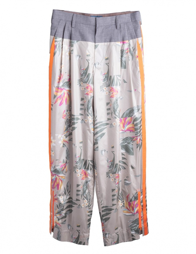 Flowers Patterned Kolor Trousers 18SCL-P01130 A-LIGHT TONE womens trousers online shopping