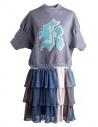 Kolor fleece gray dress with embroidered K buy online 18SPL-O04222 GRAY