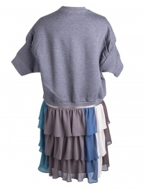 Kolor fleece gray dress with embroidered K