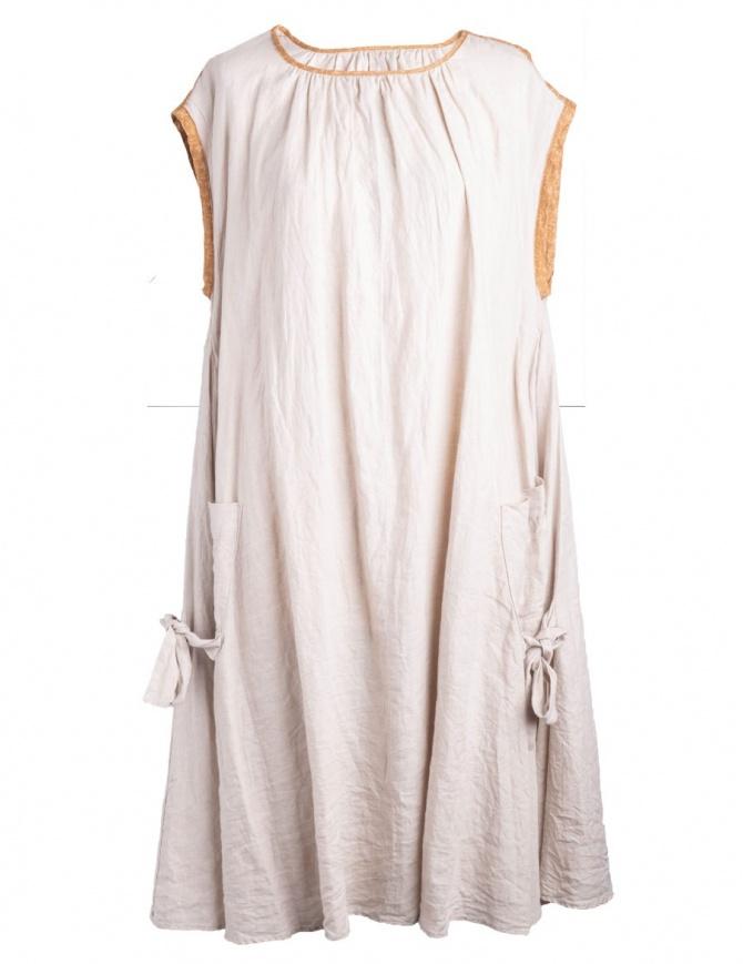 Abito Kapital in lino beige K1405OP141 abiti donna online shopping