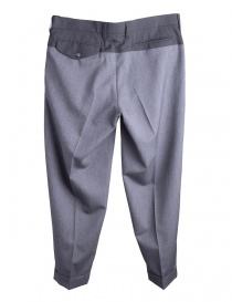 Gray Kolor Pleated-Front Trousers buy online