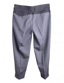 Pantaloni Grigi Kolor con la piega