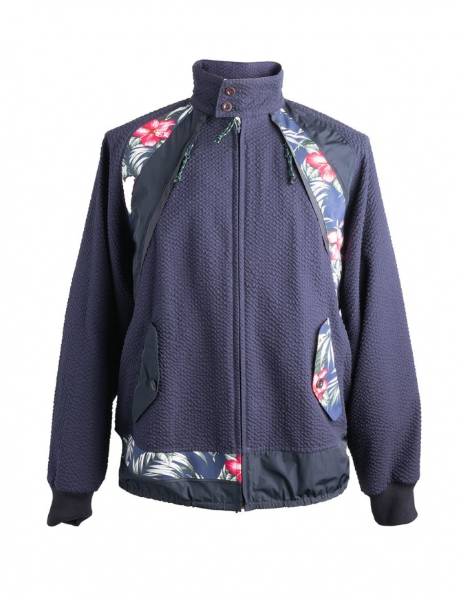 Flower Patterned Kolor Jacket 18SCM-G02102 NAVY mens jackets online shopping