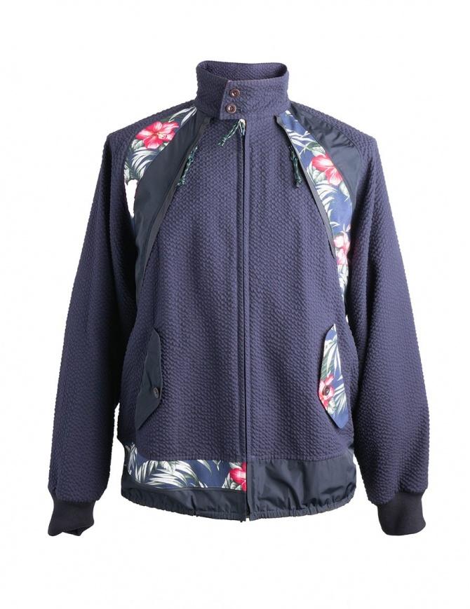 Giubbino Floreale Kolor 18SCM-G02102 NAVY giubbini uomo online shopping