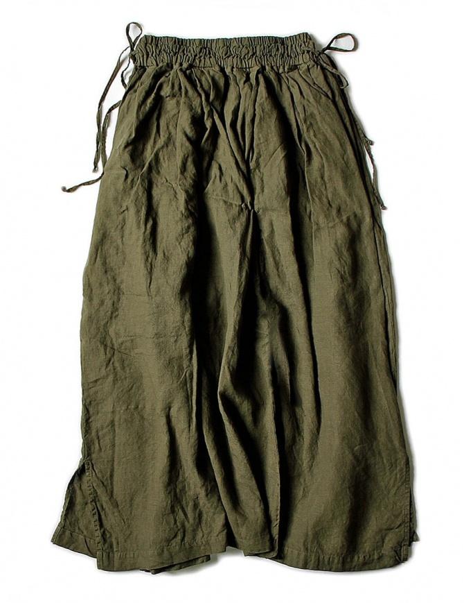 Gonna Kapital in lino colore verde K1705LP217-PANT-KHAKI gonne donna online shopping