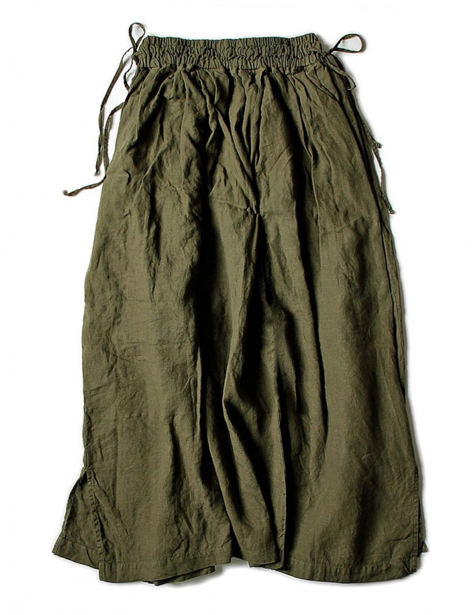 Kapital linen green skirt K1705LP217-PANT-KHAKI womens skirts online shopping