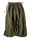 Gonna Kapital in lino colore verde acquista online K1705LP217-PANT-KHAKI