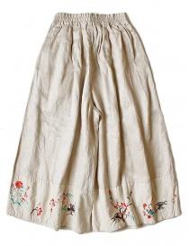 Pantalone Kapital ricamata colore beige