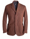 Brown Haversack Jacket with embossed diamond pattern buy online 871808A_34A