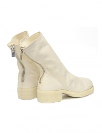 White leather Guidi 788Z ankle boots