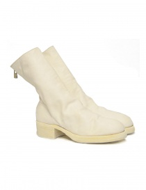White leather Guidi 788Z ankle boots online