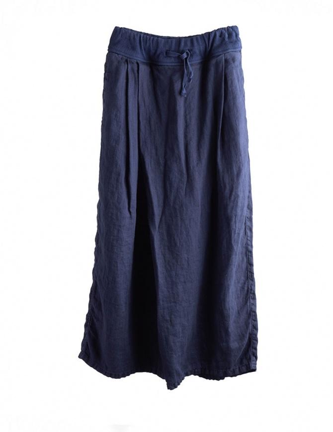 Long navy Kapital pants EK597 NAVY PANTS womens trousers online shopping