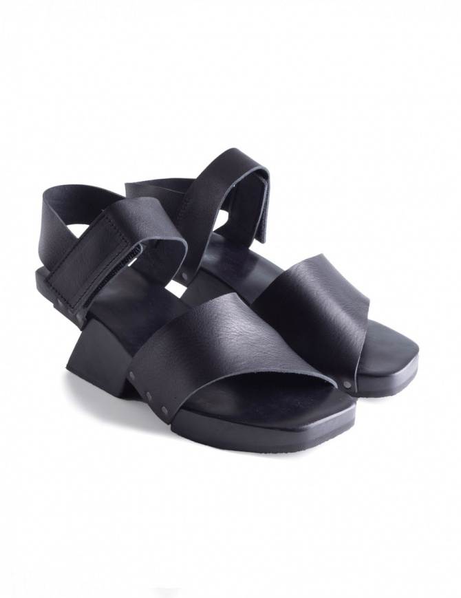 Trippen Torrent Black Sandals TORRENT BLK BLK WAX womens shoes online shopping