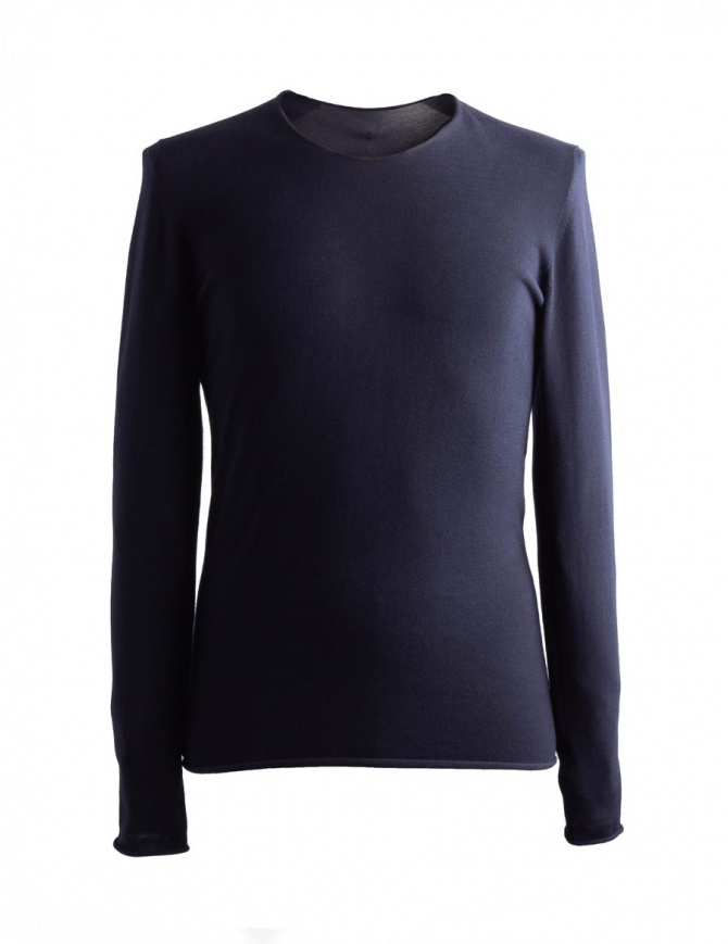 Maglia nera Label Under Construction maniche lunghe 31YMSW163 CO199 31/8 SWEATER maglieria uomo online shopping