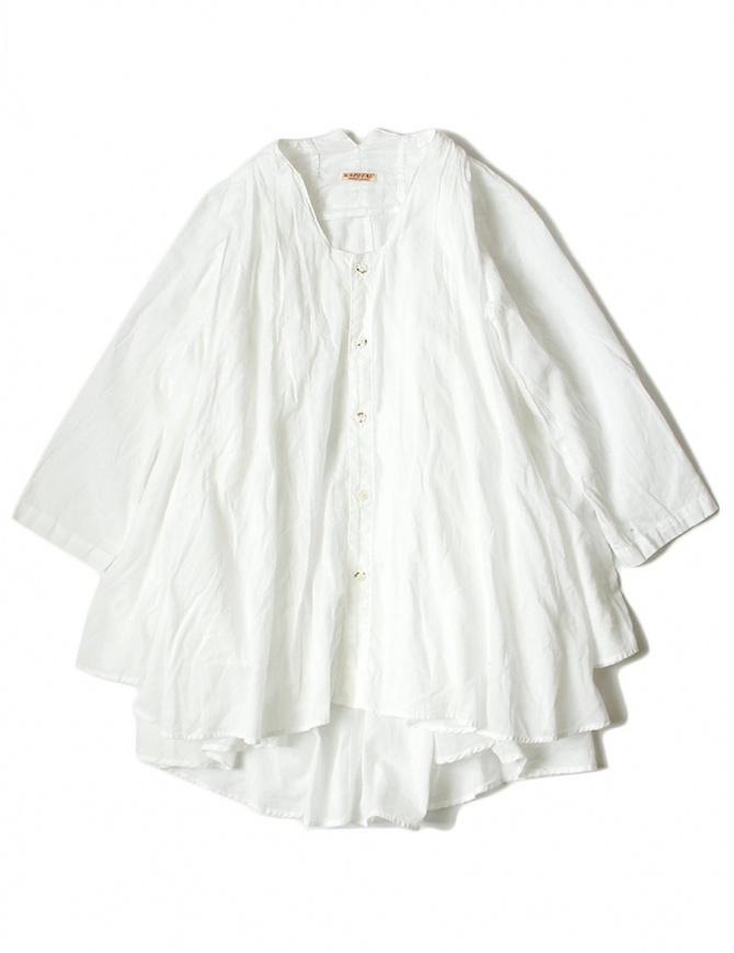 Camicia bianca Kapital svasata manica 3/4 EK544 SHIRT WHT camicie donna online shopping