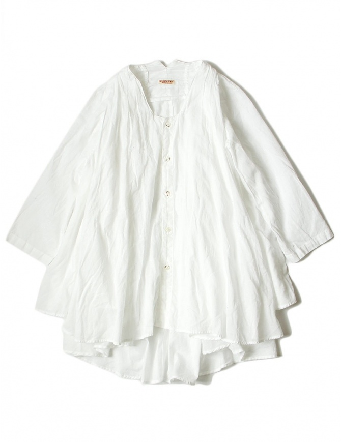 White Kapital flared shirt with 3/4 sleeves EK544 SHIRT WHT womens shirts online shopping