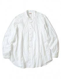 Camicie donna online: Camicia bianca Kapital plissé con increspature