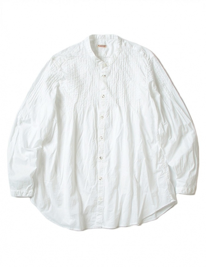 Kapital pleated white shirt with wrinkles K1704LS133 SHIRT WHT womens shirts online shopping