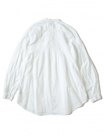 Kapital pleated white shirt with wrinkles