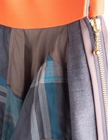 Gonna asimmetrica grigio scuro Kolor con fascia arancione prezzo