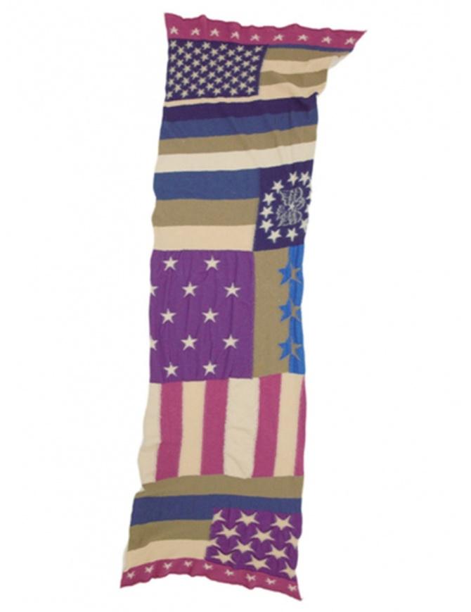 Sciarpa tricolore Kapital K1501XG348 PURPLE 1REIKO sciarpe online shopping