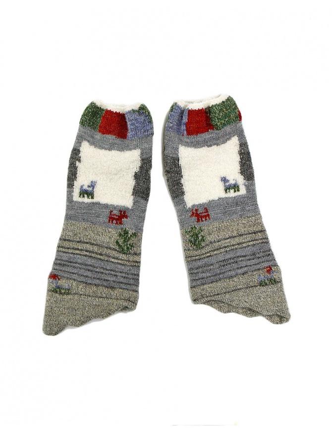 Gray and white Kapital gloves EK-511 GRAY gloves online shopping