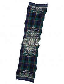Kapital navy tartan scarf K1509XG332 NAVY