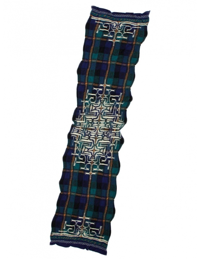Kapital navy tartan scarf K1509XG332 NAVY scarves online shopping